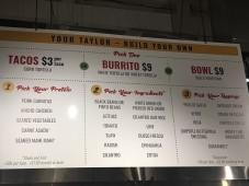 Taylor menu