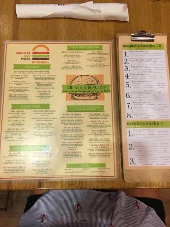 Emeril's menu