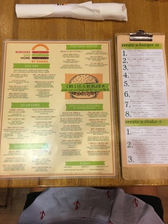 Emeril's menu